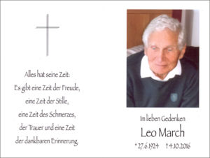 Leo March cr