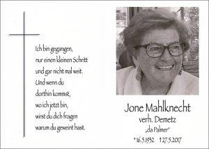Jone Mahlknecht cr