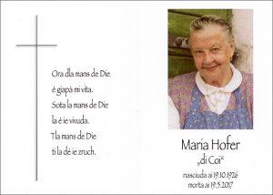 Maria Hofer cr