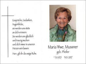 Maria Mussner cr
